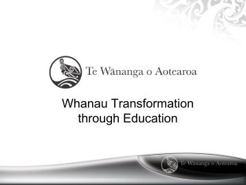 Whanau Transformation Through Education