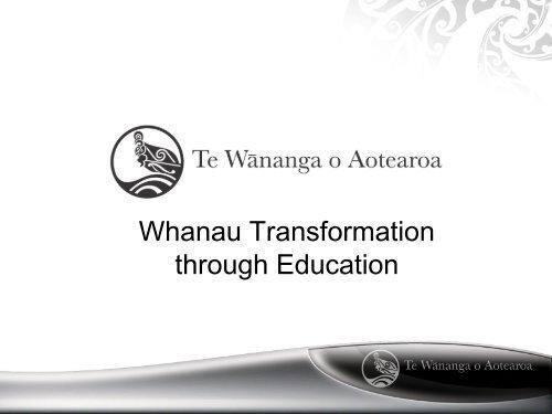 Whanau Transformation Through Education