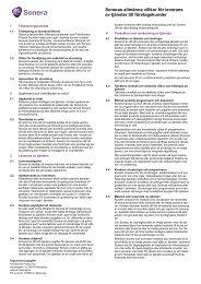 Soneras allmänna villkor för leverans av tjänster till företagskunder