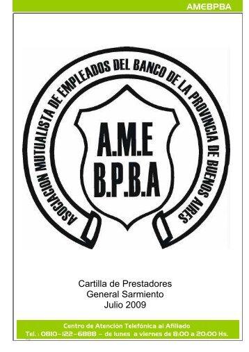 Cartilla de Prestadores General Sarmiento Julio 2009 - amebpba