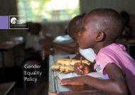 Irish Aid Gender Equality Policy 2004