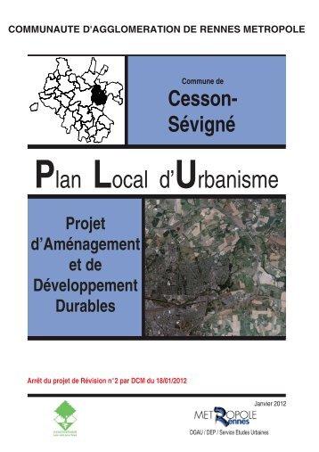 Plan Local d'Urbanisme - Cesson-Sévigné
