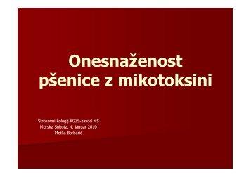 Vsebnost DON v µg/kg (2007, 2008) - Kmetijsko gozdarski zavod ...