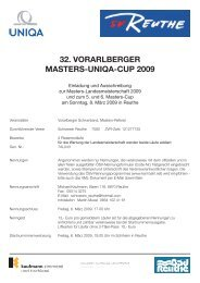 32. Vorarlberger Masters-Uniqa-CUp 2009 - bregenzerwald-news.at