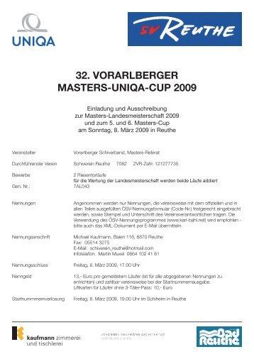 32. Vorarlberger Masters-Uniqa-CUp 2009 - bregenzerwald-news.at