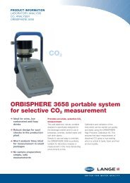 ORBISPHERE 3658 Selective CO2 measurement - HACH LANGE