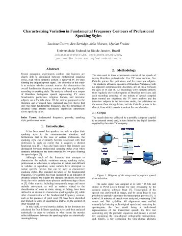 Characterizing Variation in Fundamental Frequency Contours of ...