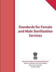 Standards for Female and Male Sterilization Services - STATE ...