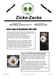 Zicke-Zacke 2009 - Neues Bürger-Corps von 1927 e.V.