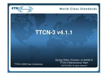 The new TTCN-3 version 4.1.1