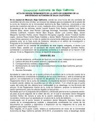 26 de noviembre - Universidad Autónoma de Baja California