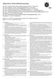 Allgemeine Geschäftsbedingungen gültig ab 01.11.2010 für ... - UPC