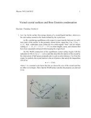 Vicinal crystal surfaces and Bose Einstein condensation
