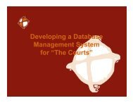"""Developing a Database Management System for """"The Courts"""""""