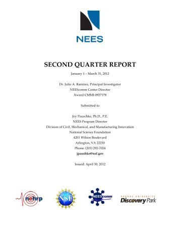 2nd Quarter - Network for Earthquake Engineering Simulation