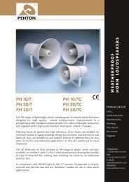 PH 10/T PH 10/TC PH 20/T PH 20/TC PH 30/T ... - Visonomedia.com