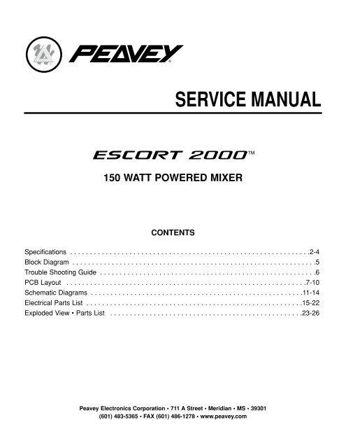 service manual 150 watt powered mixer - diagramas.diagram...