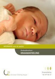 Onthaalbrochure Kraamafdeling - UZ Brussel: Patientinfo