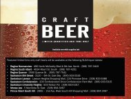 Featured limited time only craft beers will be available at the ... - SLGA