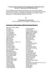 Satzung über die Festlegung der Schulbezirke für - Halberstadt