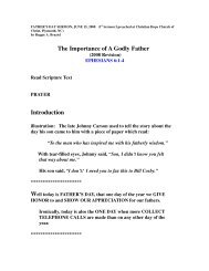 The Importance Of A Godly Father - Christian Hope Church Home