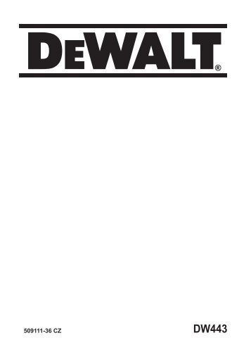 návod - Service - DeWALT