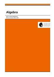 Algebra - Fachbereich Mathematik - Technische Universität Darmstadt