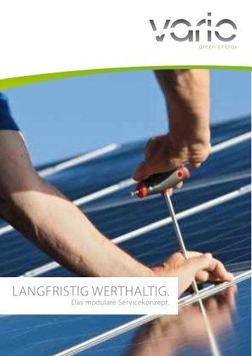 langfristig werthaltig. - Vario green energy Concept GmbH