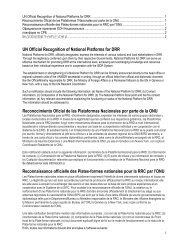 UN Official Recognition of National Platforms for ... - PreventionWeb