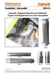 Auspuff- /Abgasschläuche aus Edelstahl - Heizmann AG