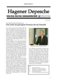 Hagener Depesche Nr. 8 - FernUniversität in Hagen