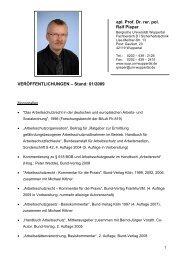 Veröffentlichungen - Bergische Universität Wuppertal
