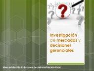 MERCA 3 CAPITULO 1 Investigacion de mercados y decisiones ...