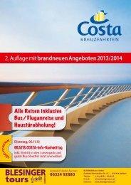 2. Auflage mit brandneuen Angeboten2013/2014 - blesinger-reisen ...