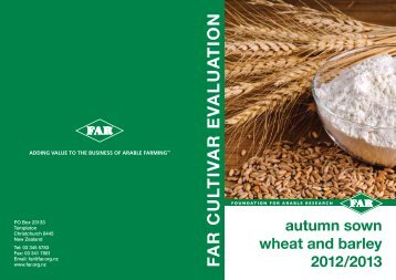 to view pdf of Autumn sown wheat and barley 2012/2013 - FAR
