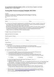 Vertrag über Essensversorgung Schuljahr 2013/2014