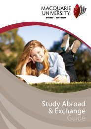 Study Abroad & Exchange Guide - International - Macquarie University