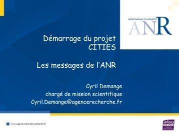 Présentation de l'ANR – Cyril Demange - Project web sites