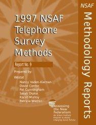 1997 NSAF Telephone Survey Methods - Urban Institute