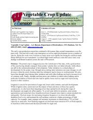 Vegetable Crop Update 5/30/12 - University of Wisconsin-Madison