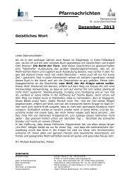 Pfarrbrief Dezember 2013 - Pastoralverbund Olpe-Biggesee