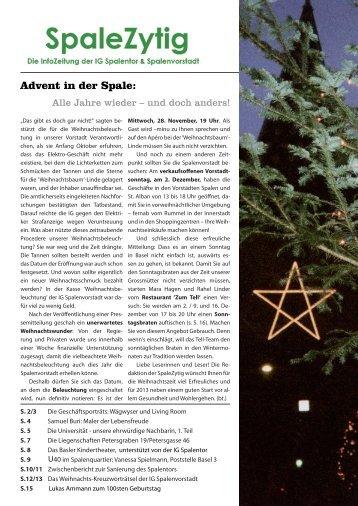 (6 Jahrgang) / November 2012 - IG Spalenvorstadt