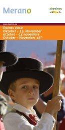 Download: Eventkalender für Oktober - Hotel Bavaria & Hotel Palma