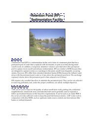 Retention Pond (RP)— Sedimentation Facility