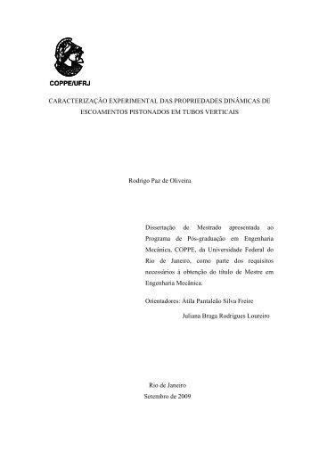 CARACTERIZAÇÃO EXPERIMENTAL DAS PROPRIEDADES ...