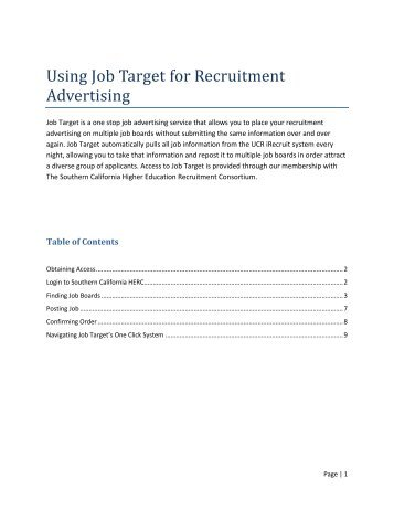 Using Job Target for Recruitment Advertising How-to Guide