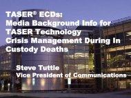 TASER® ECDs - Center for Investigative Reporting