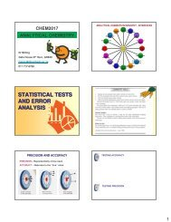 statistical tests and error analysis - Wits Structural Chemistry