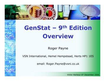 GenStatGenStat - VSN International
