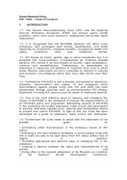Human Resource Policy HIV / Aids – Code of Conduct 1 ... - Inseta